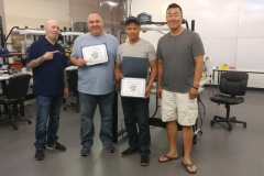 Master Tech July 17 Training Graduates